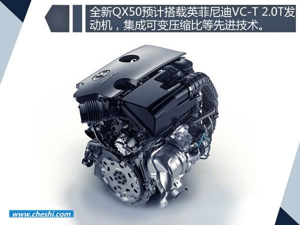 英菲尼迪全新QX50搭新2.0T将国产 内外大幅改动-图5