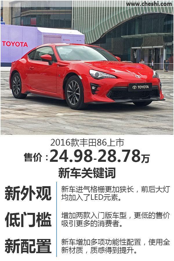 丰田新86正式上市 售价24.98-28.78万元-图1