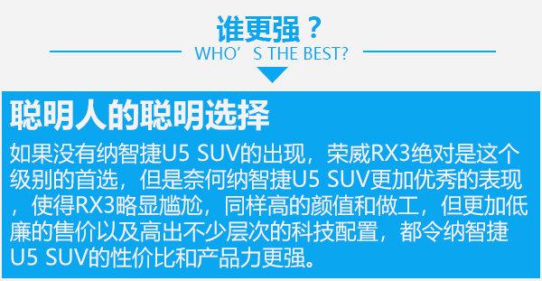 寻找聪明的青春良伴 纳智捷U5 SUV对比荣威RX3-图12