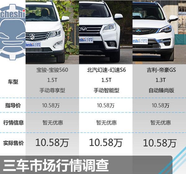 10.58万同价选谁? 宝骏560/幻速S6/帝豪GS-图2