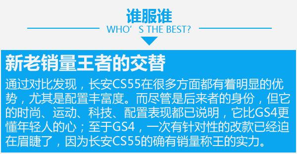 后来者也能够居上 长安CS55对比广汽传祺GS4-图7