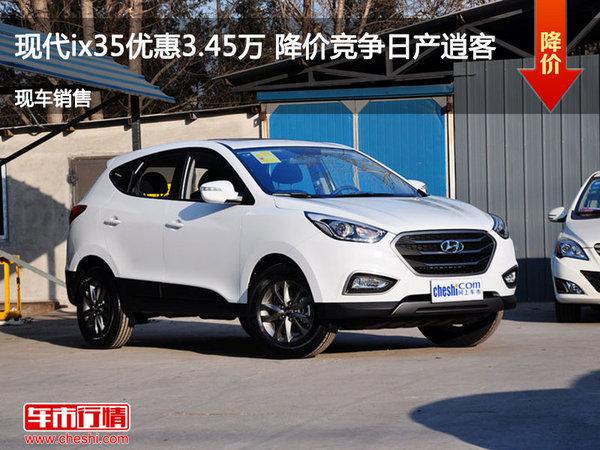 现代ix35优惠3.45万 降价竞争日产逍客-图1