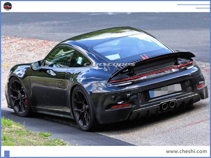 保时捷全新911谍照曝光换新4.0L引擎/pk奔驰GT-图5