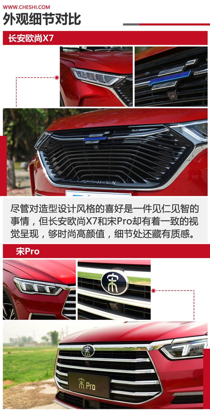 国民精品SUV的标杆之争 长安欧尚X7对比宋Pro-图3