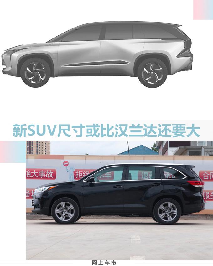 丰田两款全新电动车曝光 这款SUV比汉兰达还大-图6
