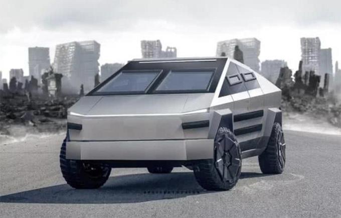 特斯拉Cybertruck变身军用装甲 科幻战场风格-图2