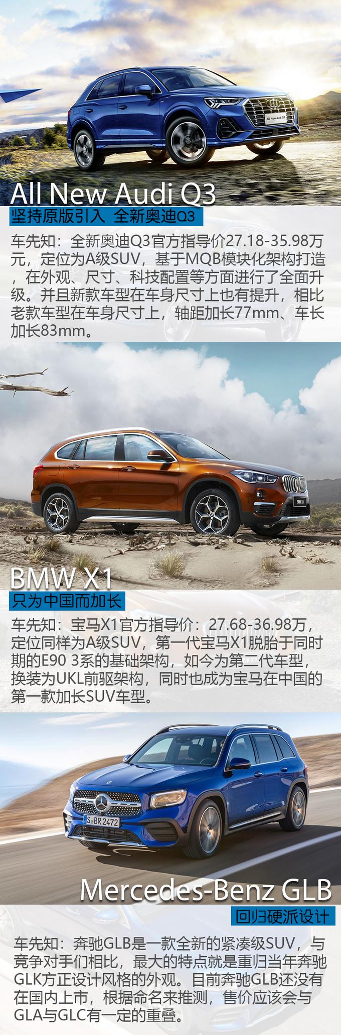 奥迪Q3/宝马X1/奔驰GLB 究竟是谁重新定义豪华SUV-图2