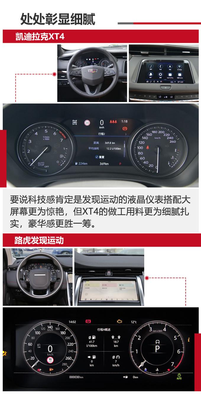 26万买豪华SUV 路虎发现运动/凯迪拉克XT4那款值-图8