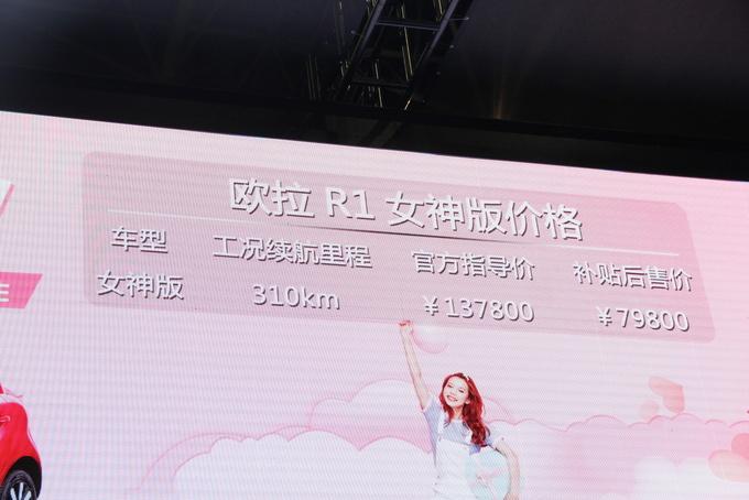 补贴后售7.98万元 欧拉R1女神版东莞上市-图1
