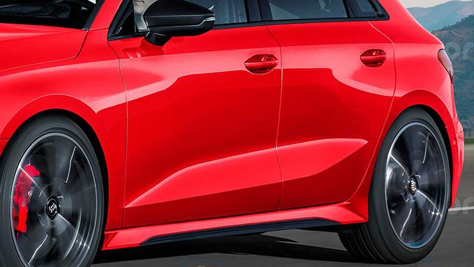 全新奥迪RS 3效果图曝光 竞争对手直指奔驰A45-图4