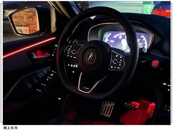 讴歌全新MDX运动版实拍搭3.5L V6/配红色氛围灯-图9