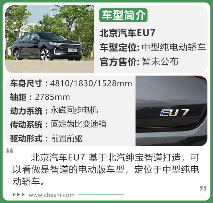 纯电续航451km 换全新LOGO 试驾北京汽车EU7-图2