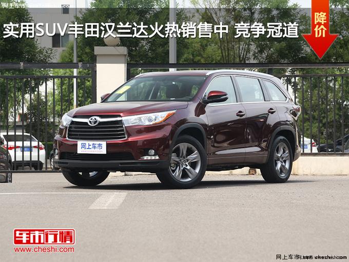 实用SUV丰田汉兰达火热销售中 竞争冠道-图1