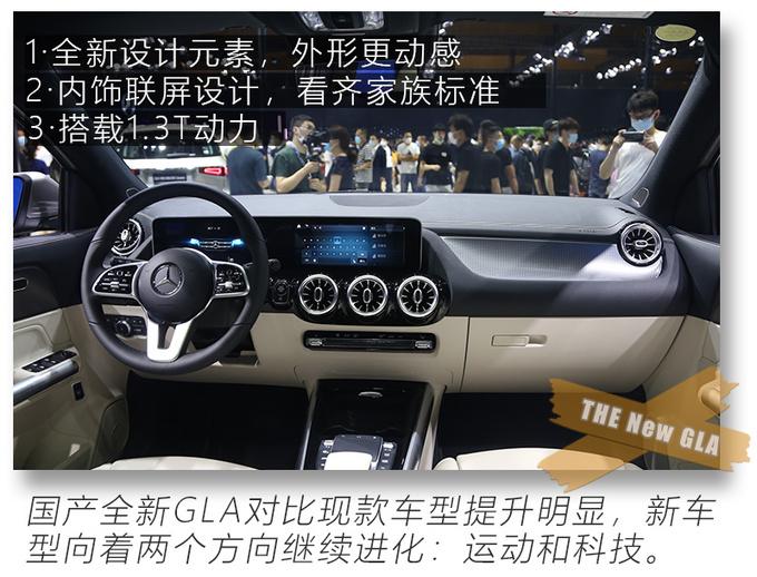 2020粤港澳车展实拍更大空间的奔驰国产全新GLA-图1