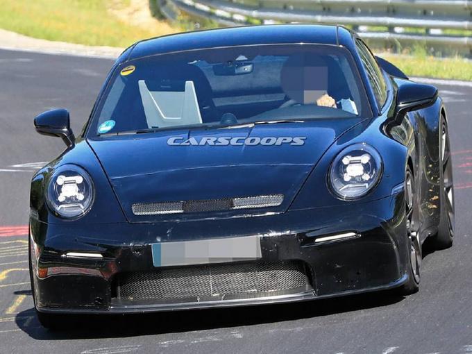 保时捷全新911谍照曝光换新4.0L引擎/pk奔驰GT-图1