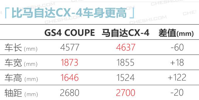 广汽传祺GS4轿跑SUV实拍车身加长2个月后上市-图6