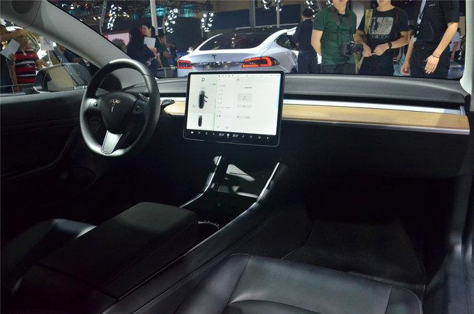 像苹果造的车 特斯拉Model3亮相重庆车展-图10