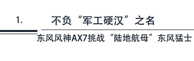 车圈最硬核直播 风神AX7挑战陆地航母东风猛士-图4