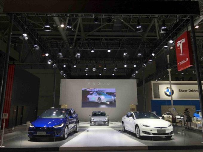 像苹果造的车 特斯拉Model3亮相重庆车展-图2