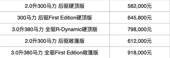 捷豹新款F-TYPE上市 售58.20-91.80万元-图2