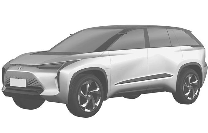 丰田两款全新电动车曝光 这款SUV比汉兰达还大-图1