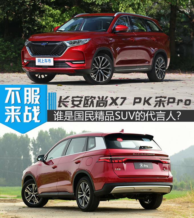 谁是国民精品SUV的代言人 长安欧尚X7 PK宋Pro-图1