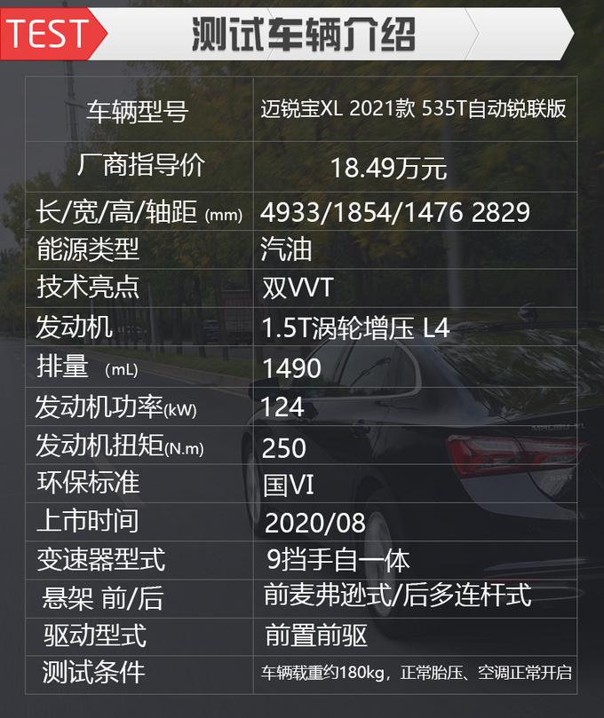 让清华教授称赞的名牌动力 测试雪佛兰迈锐宝XL 535T-图3