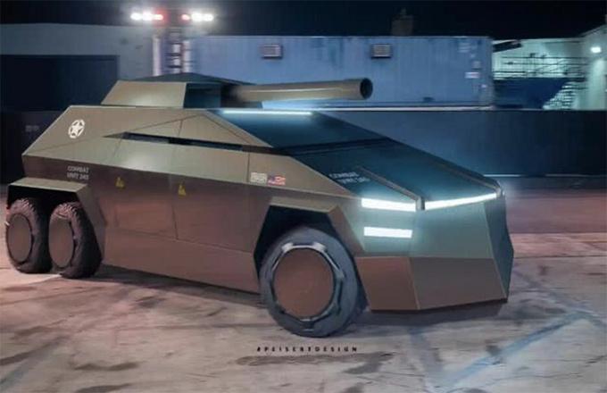 特斯拉Cybertruck变身军用装甲 科幻战场风格-图7