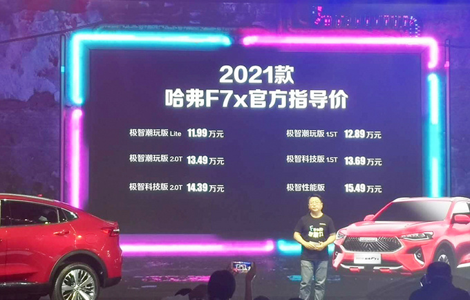 哈弗2021款F7/F7x上市 售11.18万起 配置大幅升级-图2