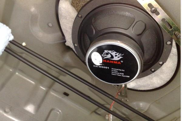 比亚迪 f3悍马 音响改装 详细步骤 比亚迪f3悍马音响改装详高清图片