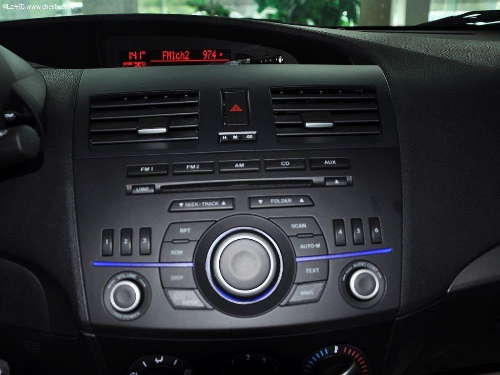 晴空蓝马自达3星骋 2013款 两厢 1.6 自动精英型中控方向盘高清图片 高清图片