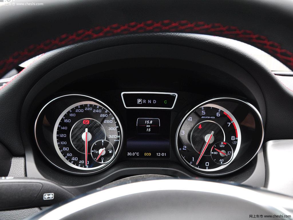 白色奔驰cla级amg中控方向盘高清图片(8/19)_网上车市