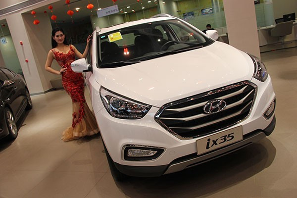 现车全国降价销售中 北京现代ix35全系优惠8万现金 赠送万元汽车装高清图片