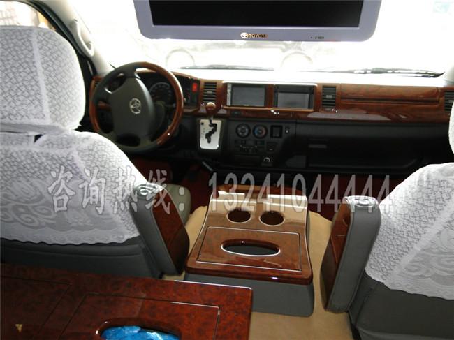 丰田海狮商务面包车13座内饰改装价格