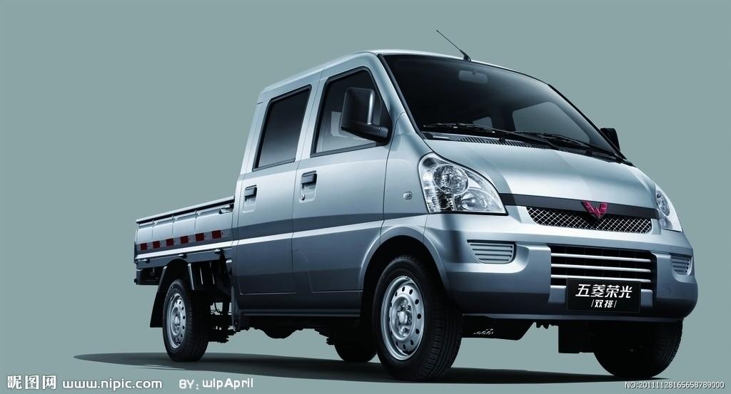 五菱双排小货车报价_【五菱荣光加长版、单排双排大理中机汽车贸
