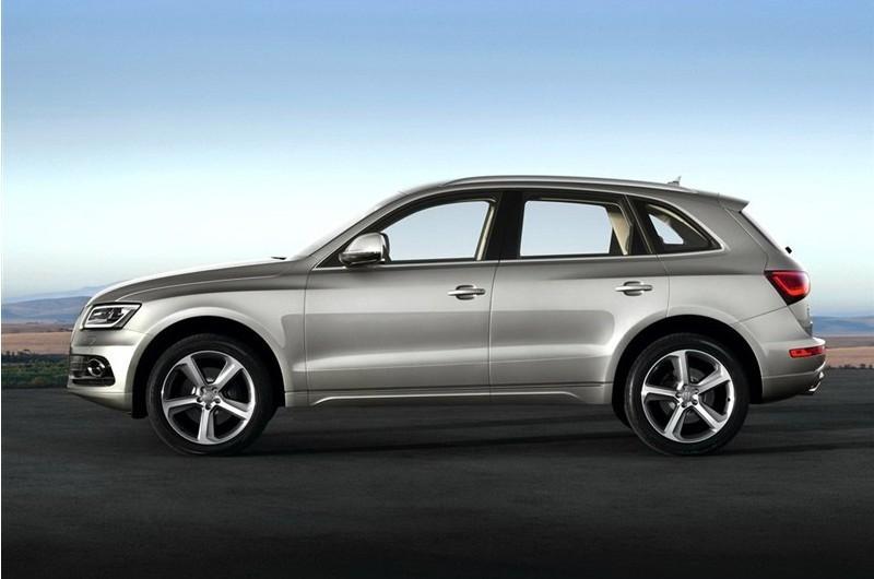 奥迪q5车身大部分由高强度和超高强度钢材构成.