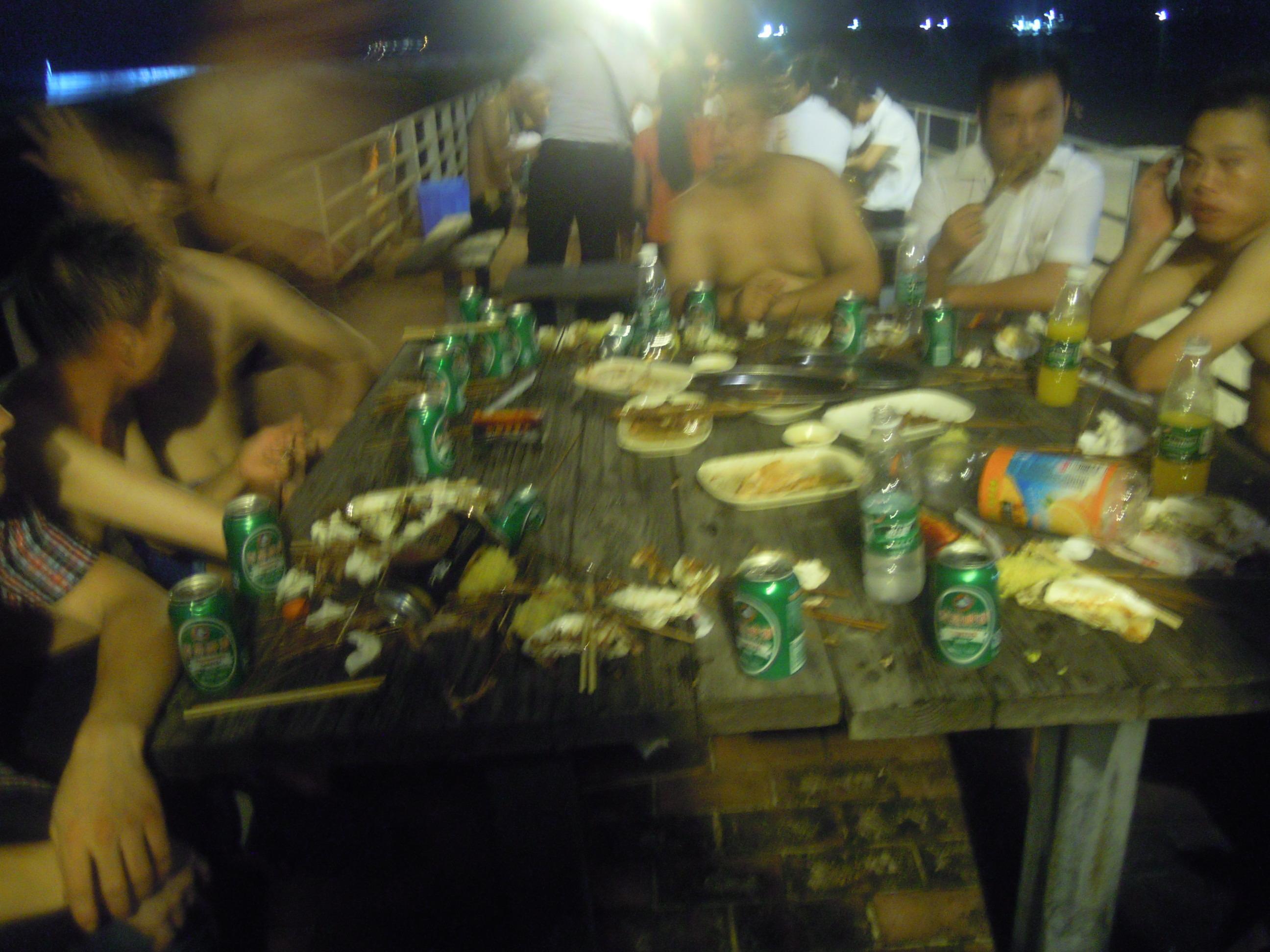 夜晚,沙滩,游艇,烧烤,员工海边聚会