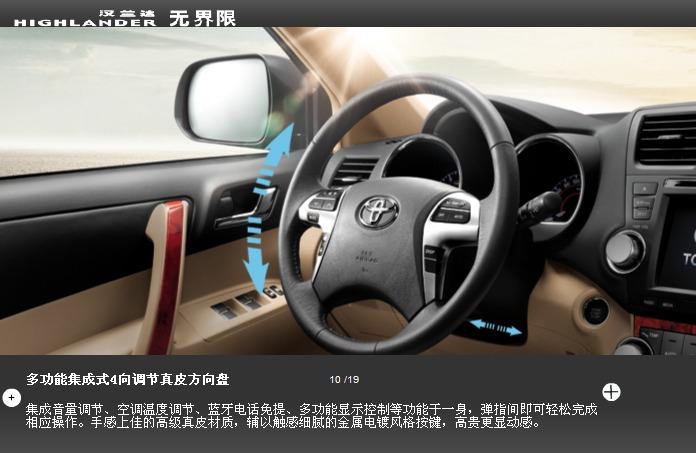 丰田汉兰达2013款5座最低价格 送大礼包高清图片