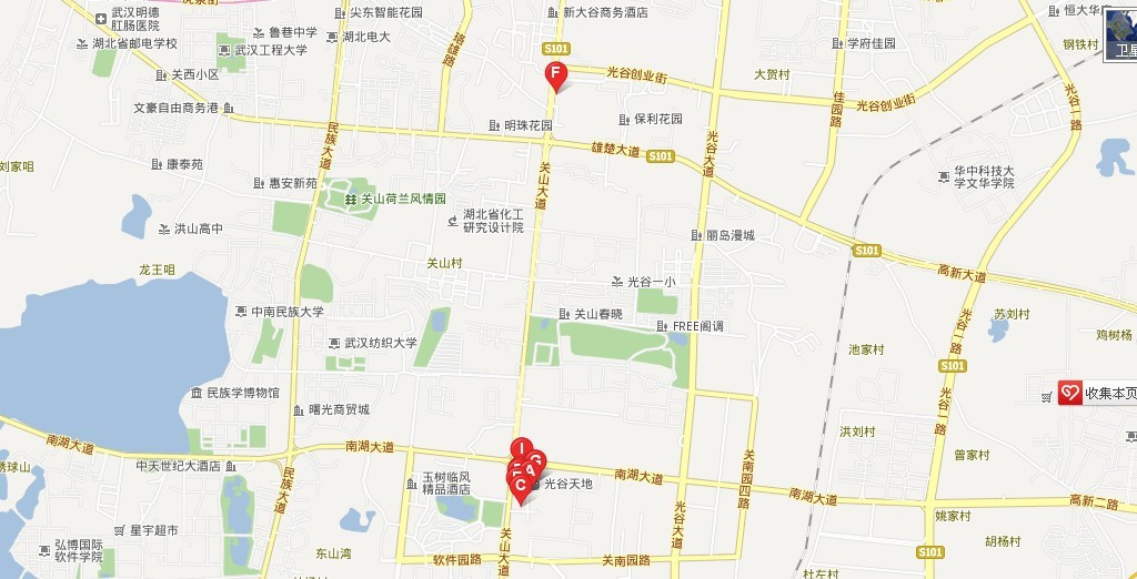 武汉武昌光谷地图_