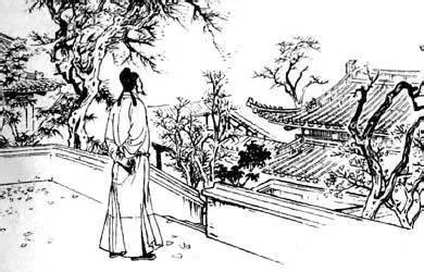 柳树和湖风景简笔画