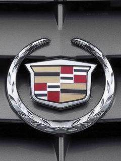 凯迪拉克汽车选用的著名的花冠盾形徽章象征着其在汽车行高清图片