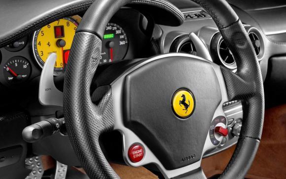 内饰实拍高清壁纸,看着就有驾驶的欲望. 法拉利f430跑车桌面高清图片