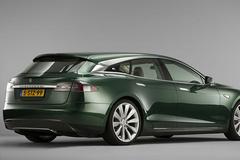 特斯拉Model S旅行版实拍 换个车标还能接受吗
