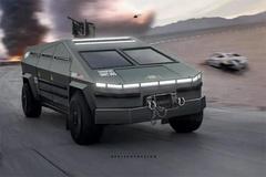 特斯拉Cybertruck变身军用装甲 科幻战场风格